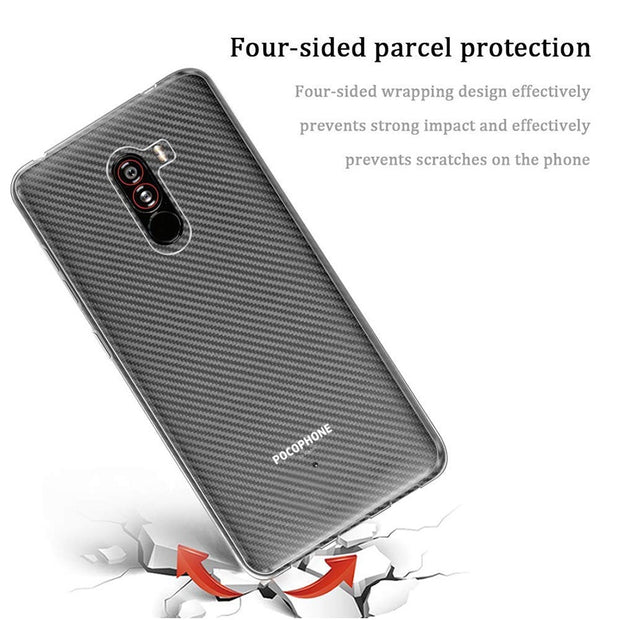 WOLFPSYCH Soft Silicone TPU Case For Xiaomi Pocophone F1 Transparent Case Anti Knock Case For Xiaomi Poco F1 Clear Case