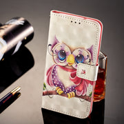 Wallet Cases For Samsung Galaxy S7 Edge S7Edge G935 G935F G935FD SM-G935F SM-G935 Cute Bear Owl Cartoon Leather Flip Phone Cover