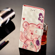 Wallet Cases For Samsung Galaxy S9 G960 G960F G960F/DS SM-G960F SM-G960F/DS Cute Bear Owl Cartoon PU Leather Flip Phone Cover
