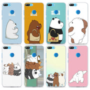 We Bare Bears Panda Transparent Frame Hard Phone Case Cover For Huawei Honor 8 9 Lite 10 10 Lite 6X 7X 7S 4C 6C Pro
