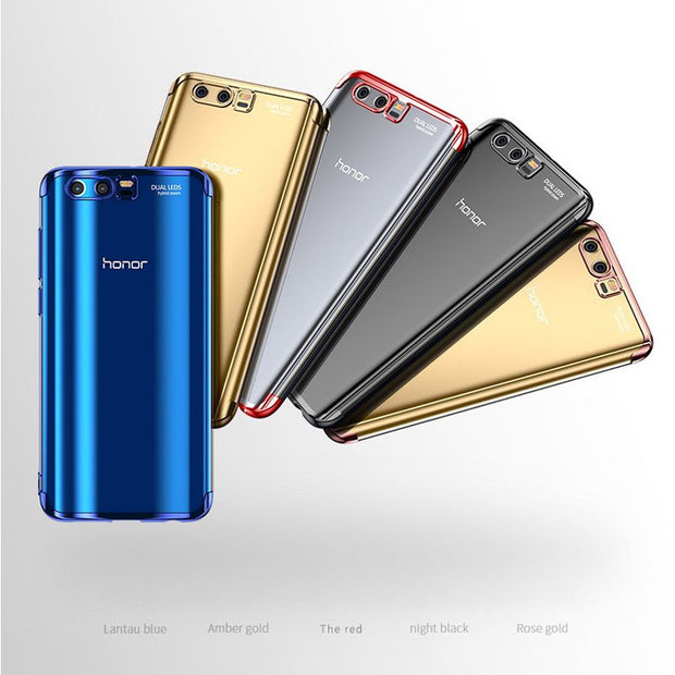 WeeYRN Transparent Plating Soft Case For Huawei Honor 9 Lite 8 Lite Pro Luxury Full Silicone TPU Cover Huawei Honor 8X 8 Lite 9