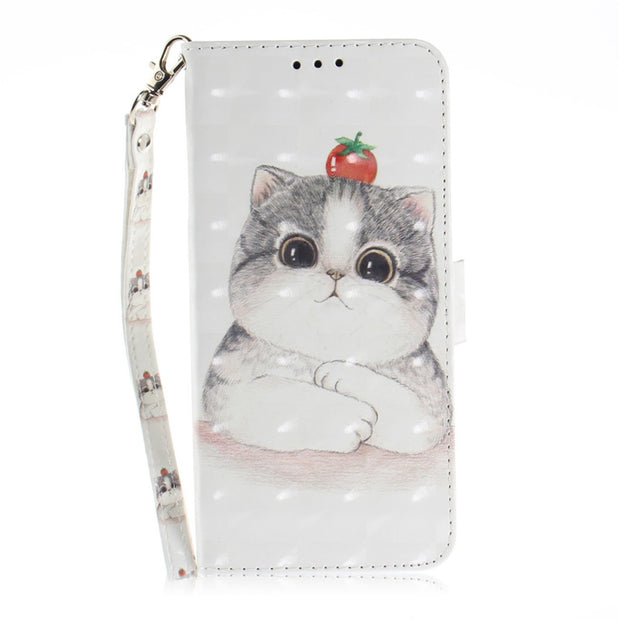 Wekays For Nokia 7 Plus Case Cute Cartoon Panda 3D Leather Flip Fundas Case  For Coque Nokia 7 Plus Nokia7 Plus Cover Cases Shell