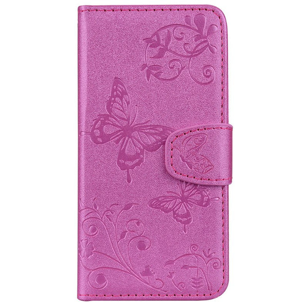With Card Slot Mirror Phone Case For Xiaomi Mi 8 Cover Coque Butterfly Patterned Flip Wallet Case For Xiaomi Mi 8 SE Case Fundas