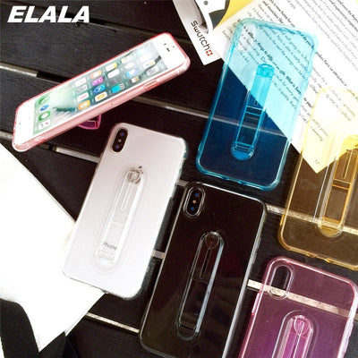 With Stand Cases For Huawei Mate 10 Lite Silicone TPU Shockproof Case Cover Mate 10 Lite / Nova 2i / Honor 9i Transparent Fundas