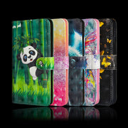 Wolf Flower Printing Case For Motorola Moto P30 Play E5 Play GO G5 E4 Z3 Play G6 E5 C E4 G5S Plus X4 Wallet Soft TPU Case