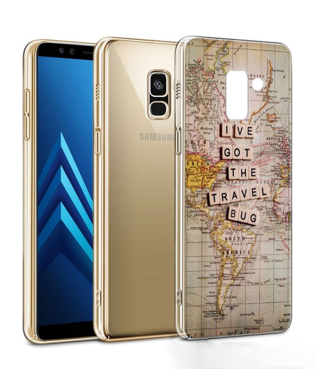 World Map Travel Just Go Phone Case For Samsung Galaxy J2 J3 J4 Plus J5 J6 Plus J7 J8 2018 Soft Silicone Cases Cover