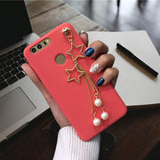 XINGYUANKE Luxury Pearl Star Pendant Phone Cases For Xiaomi Mix 2 Case Soft Silicone Coque For Xiaomi Mi Mix2 Back Cover Capa