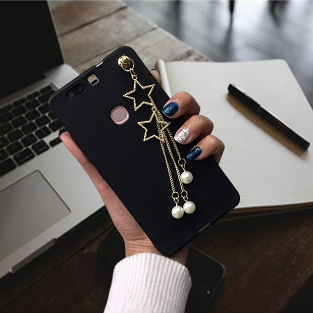 XINGYUANKE Luxury Pearl Star Pendant Phone Cases For Xiaomi Mix Case Soft Silicone Coque For Xiaomi Mi Mix Back Cover Capa
