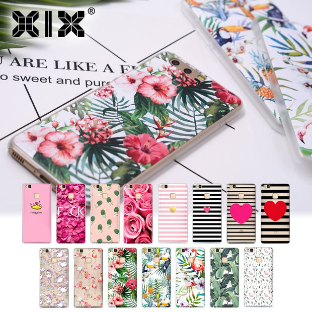 XIX For Funda Huawei Honor 6A Pink Flowers Soft Silicone TPU For Cover Huawei Honor 6A Case 2017 New Arrivals For Honor 6A