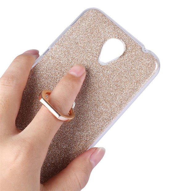 XSKEMP Anti-Explosion Ring Holder Cover Soft TPU Case For ZTE Blade A520 A521 A602 Anti-knock Phone Protective Kickstand Shell