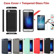 XSKEMP Back Silicon Shell TPU Case Cover 9H Tempered Glass Film For Motorola Moto E3 3rd Gen G 3rd Gen 2015 XT1540 G4 Plus Play