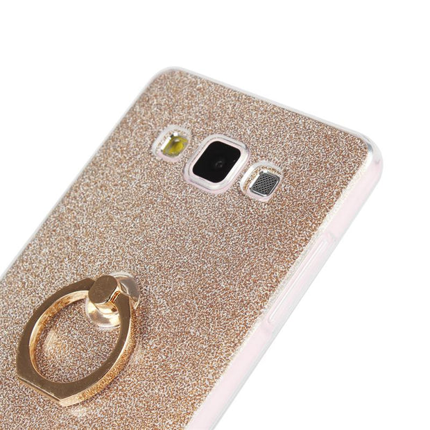 XSKEMP Ring Holder Phone Case For Samsung Galaxy A3 A5 A7 A8 E5 E7 J1 J2 J3 J5 G3608 Fashion Ultra Slim Soft TPU Kickstand Cover