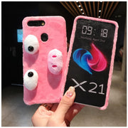 XSMYiss DIY Cute Pink Piggy Phone Cases For IPhone 6 6S 6Plus 7 8 Plus X XS Max XR Fuzzy Plush Warm Winter Soft TPU Back Cover