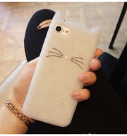 XSMYiss Fashion Soft Silicone Cute Cat Cover Case For IPhone 5 5S SE 6 6S 7 8 Plus X Lovers Protective Case