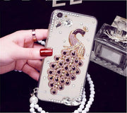 XSMYiss Luxury 3D Peacock Crystal Bling Case Rhinestone Soft Cover Case For Samsung Galaxy A3 A5 A7 J3 J5 J7 2016 2017 Version