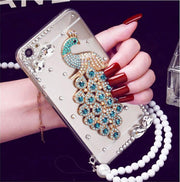 XSMyiss Luxury 3D Peacock Crystal Bling Case Rhinestone Soft Cover Case For Huawei Honor8 9 Lite V8 V9 V10 7X For Nova 2 Plus 2S