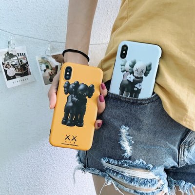 XX KAWS Airs Dissected Lovely Toys Fake Case For IPhone 8 7 6 6s Plus X Xs Max Xr BRIAN Design Cute Matte Soft Silicon Imd Cover