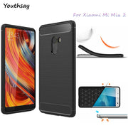 Xiaomi Mi Mix 2 Case Xiaomi MiMix 2 Soft Carbon Fiber Slim TPU Anti-knock Phone Cover SFor Xiaomi Mi Mix 2 Cover MiMix2 Case