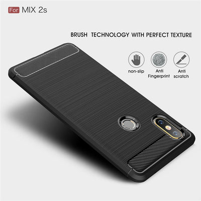 Xiaomi Mix 2S Case Cover Luxury Shockproof Soft TPU Silicone Back Cover Funda Coque For Xiaomi Mix 2S Phone Bags