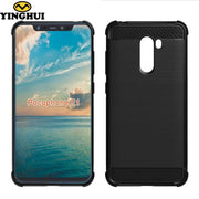 Xiaomi Pocophone F1 Case Soft Gel Armor Hybrid Fiber Skin TPU Silicon Rubber Protection Shell Cover Phone Fundas PocophoneF1