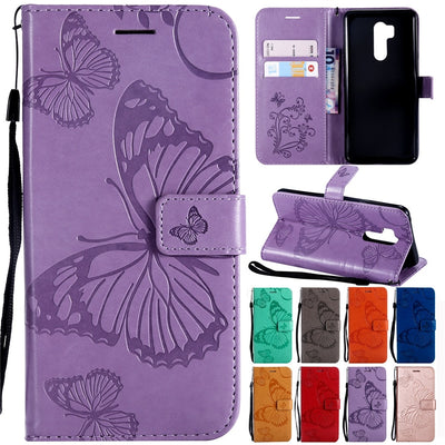 Xiaomi Pocophone F1 Case On For Coque Xiaomi Poco F1 F 1 Cover Leather Butterfly Wallet Strap Phone Cases For Xiaomi PocoF1