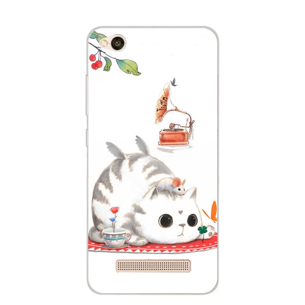 Xiaomi Redmi 5a Case,Silicon Bubble Cat Painting Soft TPU Back Cover For Xiaomi Redmi 5a Phone Protect Case Shell