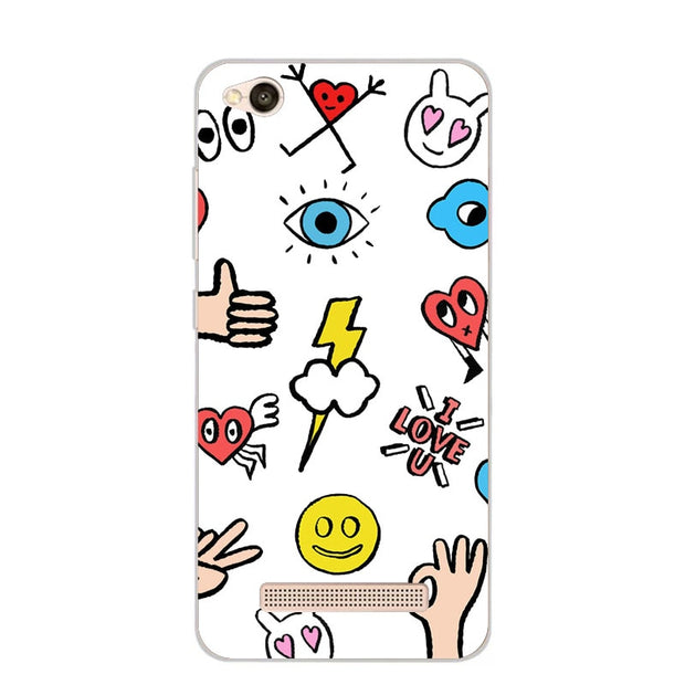 Xiaomi Redmi 5a Case,Silicon Cartoon Painting Soft TPU Back Cover For Xiaomi Redmi 5a Phone Fitted Case Shell