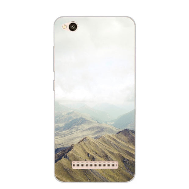 Xiaomi Redmi 5a Case,Silicon Landscape Painting Soft TPU Back Cover For Xiaomi Redmi 5a Phone Fitted Case Shell