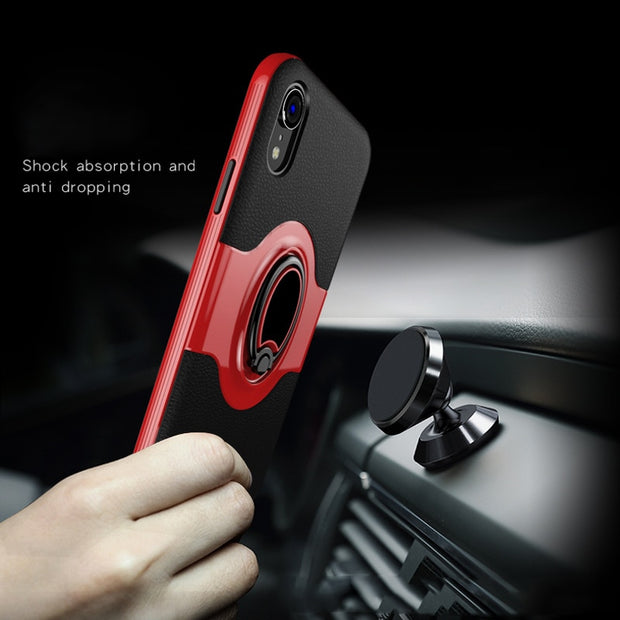 Xr Invisible Ring Bracket Cases For IPhone XS 10S Max XR Case Finger Ring Armor Anti-knock Cover For IPhone X S R Bumper Fundas