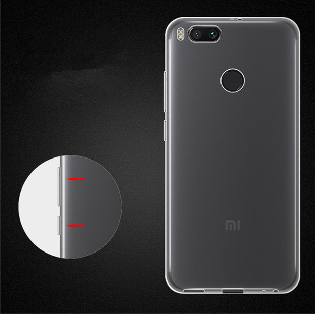 Xxins Transparent Phone Case For Xiaomi 5X/A1 TPU Silicone Anti-knock Case For 5.5 Inch Smart Phone A1 5X Protective Back Cover