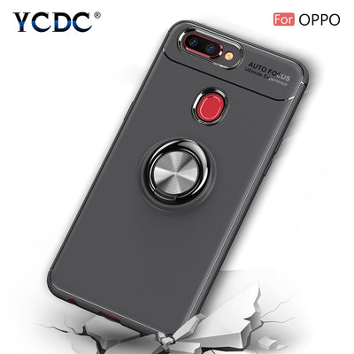YCDC Magnet Suction Phone Case For OPPO A59 A73 A77 R9 R9s R11 R11s R15 Cover For OPPO R9 R9s R11 R11s Plus Ring Bracket Shell