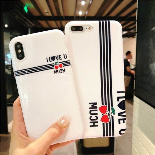 YHCSZ I Love You Letter Soft TPU Shockproof Phone Case For Iphone 6 6s 7 8 Plus X