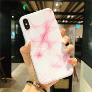YHCSZ Pink Fiber Optic Soft TPU Shockproof Phone Case For Iphone 6 6s 7 8 Plus X