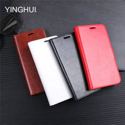 YINGHUI For LG G7 Phone Case High Quality PU Leather Flip Cases For LG G7 2018 Soft Silicone Protective Back Cover With Stand