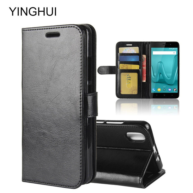 "YINGHUI For Wiko Lenny 4 Plus Case Wiko Lenny4 Plus Case 5.5"" Luxury PU Leather Phone Case For Wiko Lenny 4 Plus Flip Back Cover"
