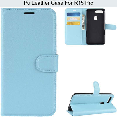 YINGHUI Lichi Skin Magnetic Wallet Pu Leather Phone Case For Oppo R15 Pro