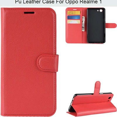 YINGHUI Lichi Skin Magnetic Wallet Pu Leather Phone Case For Oppo Realme 1 F7 Youth A73S