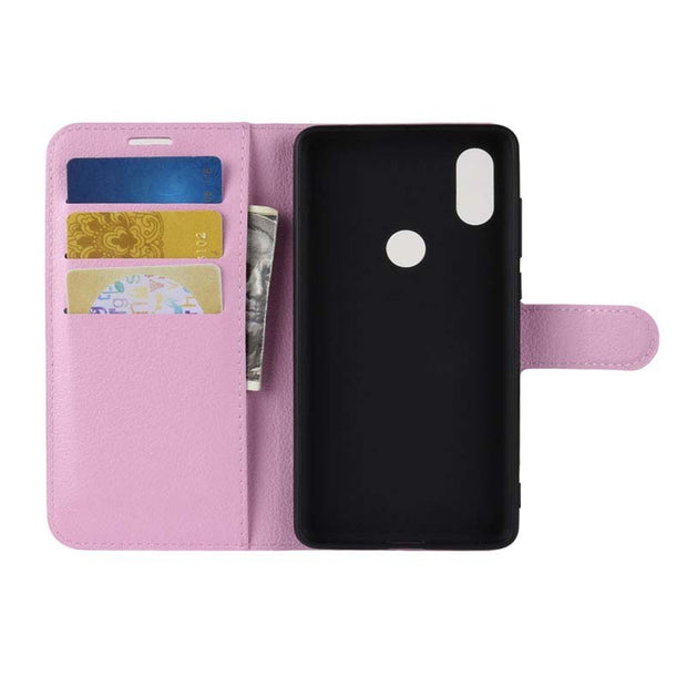 YINGHUI Lichi Skin Magnetic Wallet Pu Leather Phone Case For Xiaomi Mix 2S