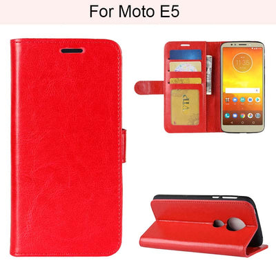 YINGHUI Luxury Elegant Magnetic Wallet R64 Skin Leather Phone For Moto E5
