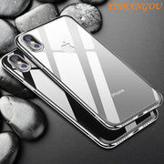YISHAGNOU Luxury Smooth Phone Case For IPhone XS Max XR Ultra Slim Hard PC Plastic Back Cover For IPhone X XS XR 7 8 Plus Cases