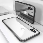 YISHANGOU Metal Bumper Protect Case For Xiaomi Redmi Note5 Pro 6 A2 6X Magnet Adsorption Tempered Glass Back Cover For OnePlus 6