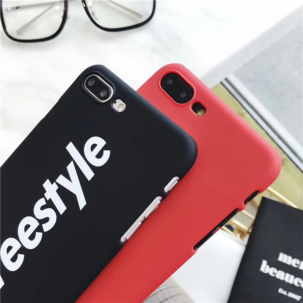YISHANGOU Phone Case For IPhone X 6 6S 7 Plus Cases Fashion StreetStyle Pattern Hard PC Back Cover For IPhone X 10 8 Plus Shell