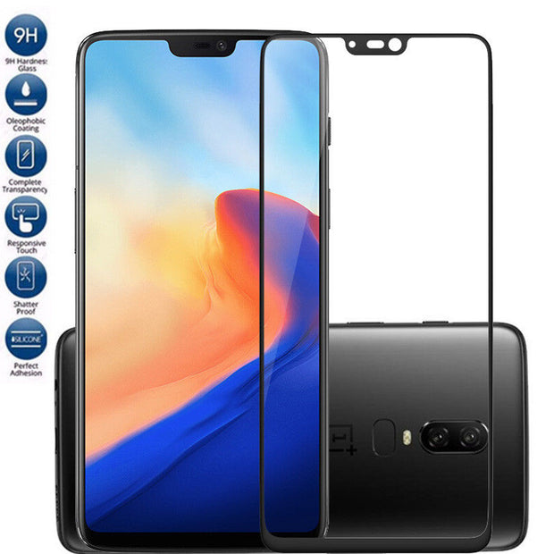 YISHANGOU Tempered Glass Phone Case For OnePlus 6 Clear 3D Curved Edge Screen Protector Flim For One Plus 6 Front Cover Capa