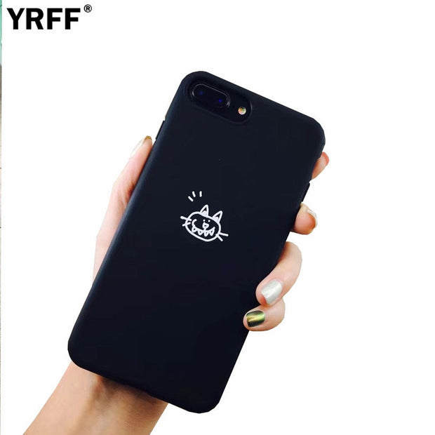 YRFF Cartoon Animal Fish Cat Phone Cases For Iphone 7 8 Case Lovely Cartoon Soft Silicon Phone Case Cover For Iphone 8 7 Plus