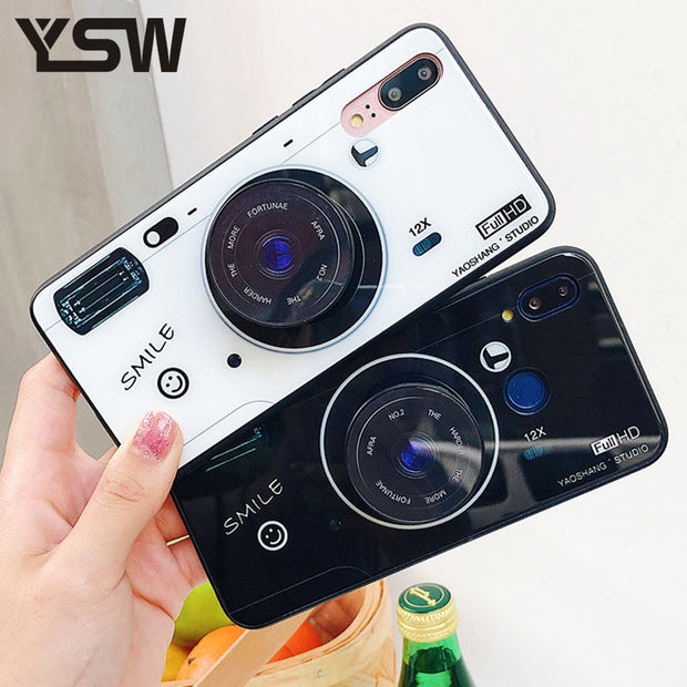 YSW For Huawei Mate 20 Lite Fashion Camera Case For Huawei Mate 9 10 20 Pro Hard Cases TPU Edge Kickstand Sport Funda Capa