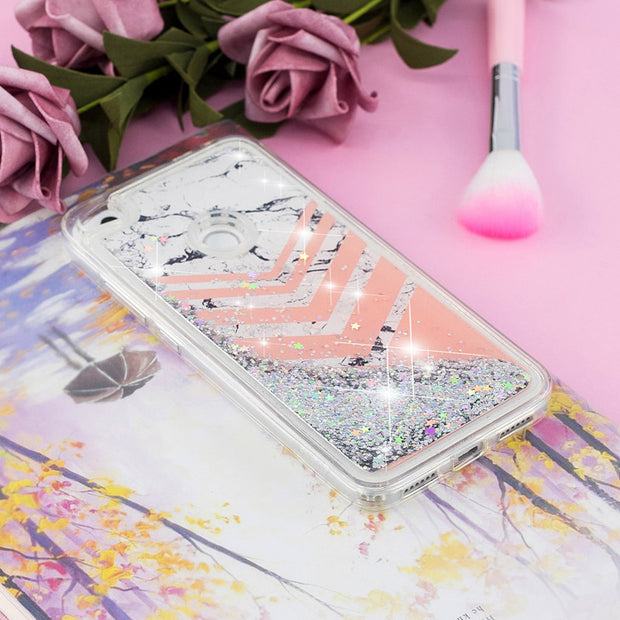 YSW Soft Silicone Quicksand Case For Huawei P9 P8 Lite 2017 Liquid Sand Cover Funda For Honor 8 Lite Case Painted Shell Capa