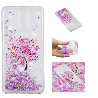 YSW For Huawei Nova 2i Soft Quicksand Case For Huawei Mate 10 Lite Cover Dynamic Liquid Patterned Clear Silicone Cases Funda