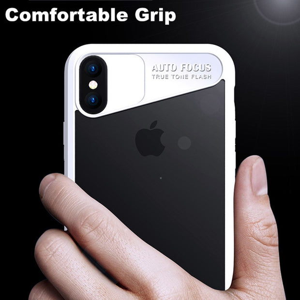 [Year-end Clearance] For IPhone X Luxury Transparent Hard PC+TPU Case For IPhone X Phone Bag Full Back Cover Thin Light Case