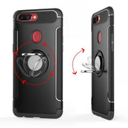 Yeuzoe For Oppo R11S R9 R9S R15 Case Shockproof Metal Ring Holder Silicone Cover For Oppo A59 A73 A79 A83 F3 Phone Case Capa