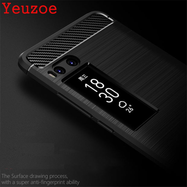 Yeuzoe Phone Cover For Meizu Pro 7 Case Luxury Ultra Thin Carbon Fiber Soft Silicone TPU Back Cover For Meizu Pro 7 Plus Pro7